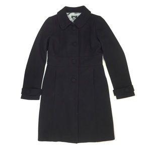 J. Crew pea coat midi long dressy wool blend